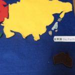 【おうちモンテ】親子の会話が広がるフェルトの世界地図!